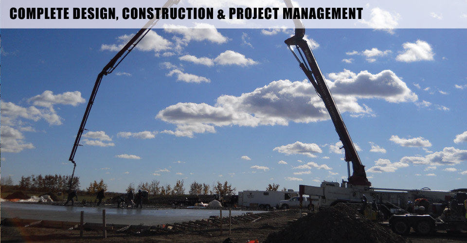 Complete Design, Construction & Project Management | Pouring foundation